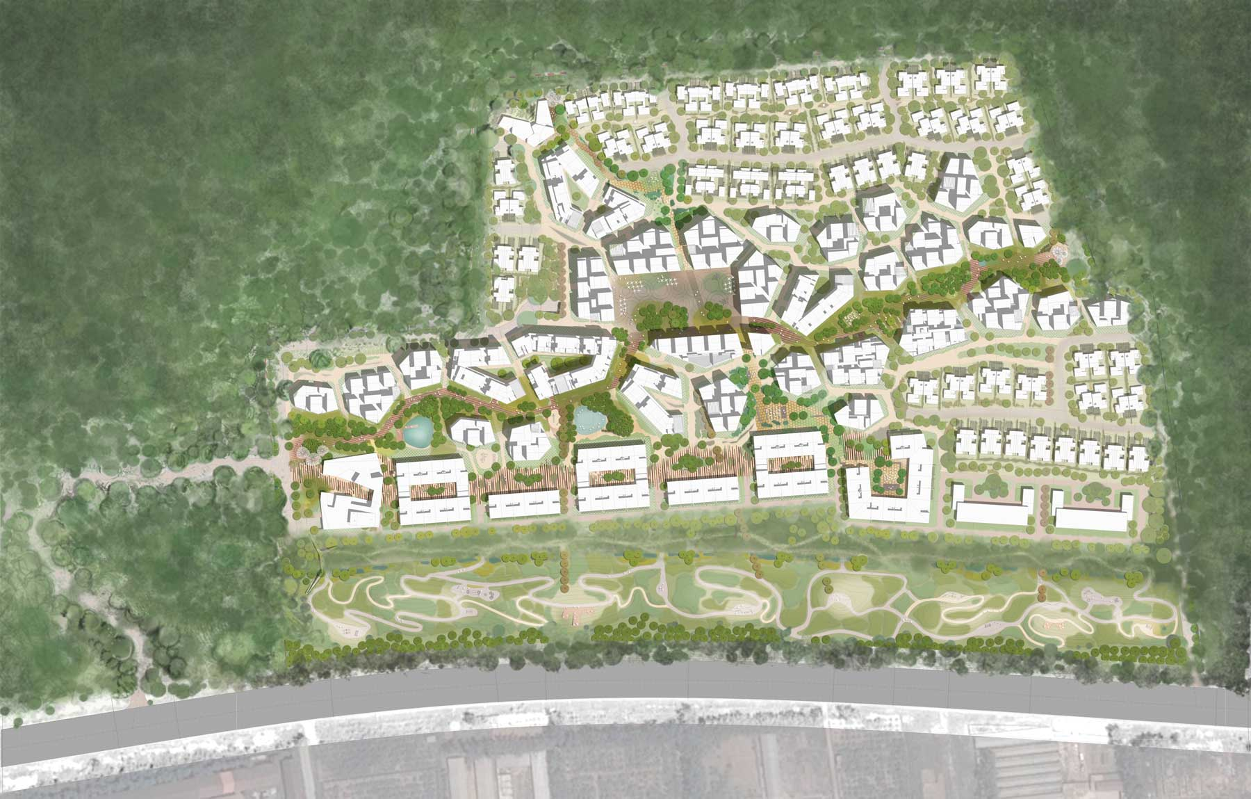 Plot 1_v.02 Masterplan en Yantai (China)