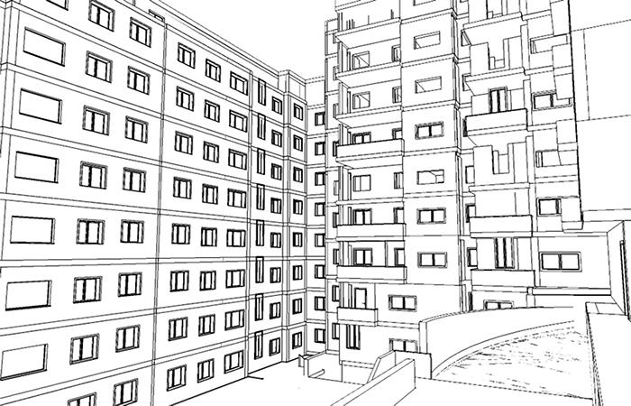 158 viviendas y comercial en Argel